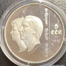Monedas antiguas de Europa: BÉLGICA, MONEDA DE 5 ECUS DEL AÑO 1996. Lote 255932305