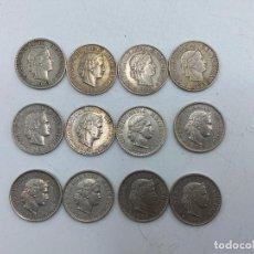 Monedas antiguas de Europa: LOTE DE 12 MONEDAS DE SUIZA. 20 RAPPEN. TODAS DE DIFERENTES AÑOS. DEL 1919-1985. VER. Lote 255939150