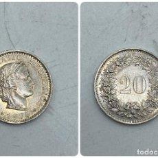 Monedas antiguas de Europa: MONEDA. SUIZA. 1975. 20 RAPPEN. VER FOTOS. Lote 255942845