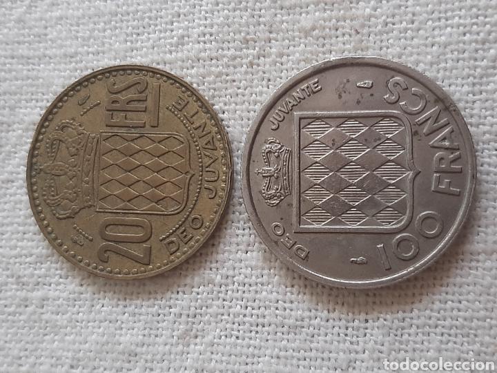 Monedas antiguas de Europa: (MÓNACO) LOTE DE MONEDAS DEO JUVANTE - Foto 2 - 256019575