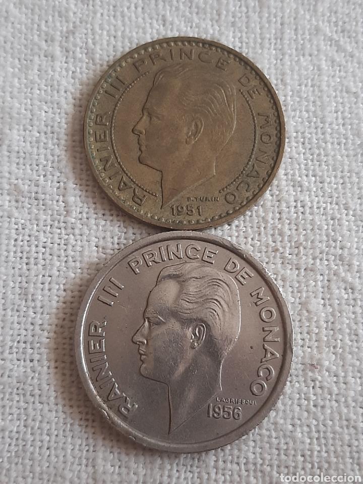 (MÓNACO) LOTE DE MONEDAS DEO JUVANTE (Numismática - Extranjeras - Europa)