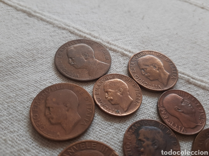 Monedas antiguas de Europa: (ITALIA) LOTE DE MONEDAS VITTORIO EMANUELE III - Foto 8 - 256021695