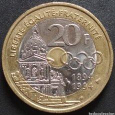 Monedas antiguas de Europa: MONEDA - FRANCIA CONMEMORATIVA 20 FRANCOS 1994 (TRIMETALICA) - ENVIO GRATIS A PARTIR DE 35€. Lote 257277305