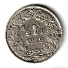 Monedas antiguas de Europa: SUIZA 1/2 FRANCO PLATA 1929 B - HELVETIA - SWITZERLAND HALF FRANC SILVER. Lote 257279360