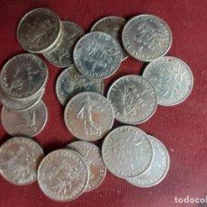 Monedas antiguas de Europa: FRANCIA. 17 MONEDAS ANTIGUAS DE 1 FRANCO DE PLATA. Lote 257289940