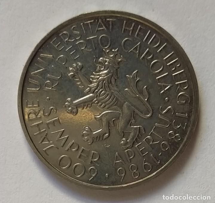 Monedas antiguas de Europa: ALEMANIA - 1986 - 5 MARCOS - MUY EBC - CAT. SCHOEN Nº 163 (PK 164) - 600 AÑOS UNIVERSIDAD HEIDELBERG - Foto 2 - 257290530