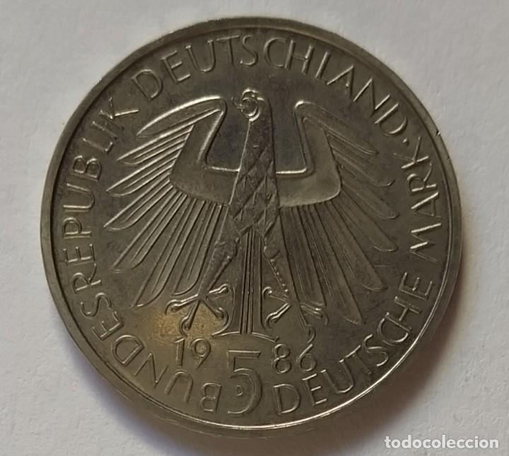 Monedas antiguas de Europa: ALEMANIA - 1986 - 5 MARCOS - MUY EBC - CAT. SCHOEN Nº 163 (PK 164) - 600 AÑOS UNIVERSIDAD HEIDELBERG - Foto 3 - 257290530