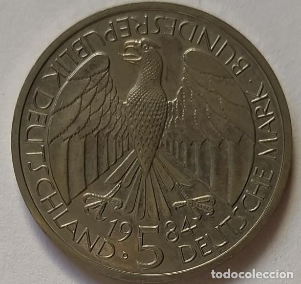 Monedas antiguas de Europa: ALEMANIA - 1984 - 5 MARCOS - MUY EBC - CAT. SCHOEN Nº 159 (PK 160) - 150 AÑOS ADUANA ALEMÁN - Foto 3 - 257298840