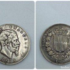 Monedas antiguas de Europa: MONEDA. ITALIA. VITORIO EMANUELE II. 5 LIRAS. 1878. VER FOTOS. Lote 257790095