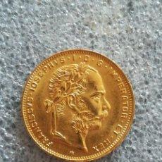 Monedas antiguas de Europa: MONEDA DE ORO 8 FLORINES, 20 FRANCOS 1882 AUSTRIA. Lote 257880400