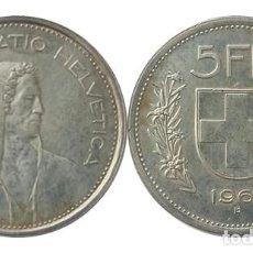 Monedas antiguas de Europa: SUIZA 5 FRANCOS 1966. Lote 257996060
