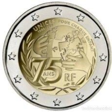 Monedas antiguas de Europa: FRANCIA 2021 -2 EUROS.-75 ANIVERSARIO UNICEF - UNC. Lote 270956503