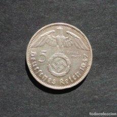 Monedas antiguas de Europa: ALEMANIA.- 5 MARCOS 1937. III REICH - PLATA - CRUZ GAMADA - ESVASTICA. Lote 260090185