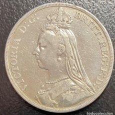 Monedas antiguas de Europa: GRAN BRETAÑA, MONEDA DE 1 CORONA DEL AÑO 1889. Lote 260652680