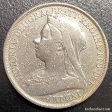Monedas antiguas de Europa: GRAN BRETAÑA, MONEDA DE 1 CORONA DEL AÑO 1893. Lote 260653005
