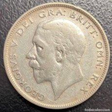 Monedas antiguas de Europa: GRAN BRETAÑA, MONEDA DE 1/2 CORONA DEL AÑO 1929. Lote 260655705