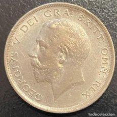 Monedas antiguas de Europa: GRAN BRETAÑA, MONEDA DE 1/2 CORONA DEL AÑO 1918. Lote 260657105