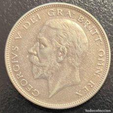 Monedas antiguas de Europa: GRAN BRETAÑA, MONEDA DE 1/2 CORONA DEL AÑO 1935. Lote 260657515