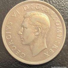 Monedas antiguas de Europa: GRAN BRETAÑA, MONEDA DE PLATA DE 1/2 CORONA DEL AÑO 1940. Lote 260657930