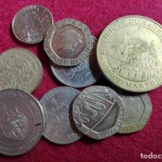 Monedas antiguas de Europa: LOTE DE 9 MONEDAS EXTRANJERAS. Lote 260729530