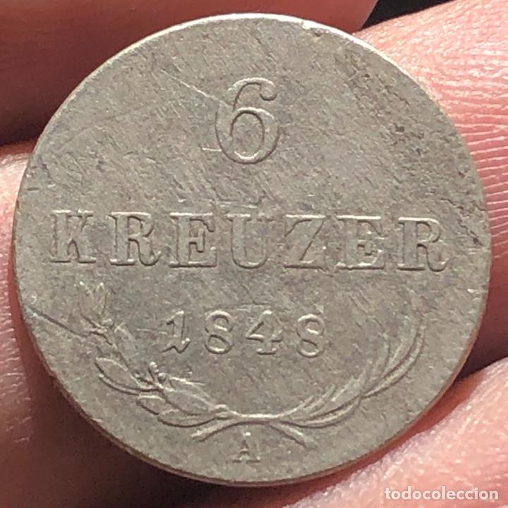 Monedas antiguas de Europa: Imperio Austro Húngaro KM2199 Praga 6 Kreuzer 1848A Plata - Foto 2 - 260784040