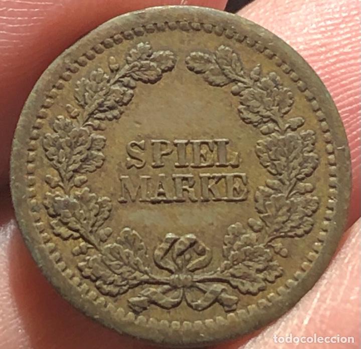 Monedas antiguas de Europa: Gran Bretaña Spiel Marke Jetton Token 1800 Brass Rara Reno - Foto 2 - 260784135