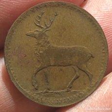 Monedas antiguas de Europa: GRAN BRETAÑA SPIEL MARKE JETTON TOKEN 1800 BRASS RARA RENO. Lote 260784135