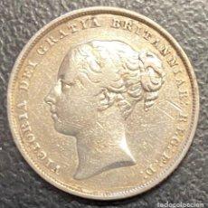 Monedas antiguas de Europa: GRAN BRETAÑA, MONEDA DE 1 CHELÍN DEL AÑO 1849. Lote 260819435