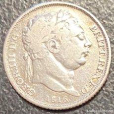 Monedas antiguas de Europa: GRAN BRETAÑA, MONEDA DE 6 PENIQUES DEL AÑO 1816. Lote 260819980
