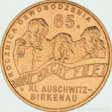 Monedas antiguas de Europa: POLONIA 2 ZLOTE 2010 65 ANIVERSARIO LIBERACION DE AUSCHWITZ- BIRKENAN. Lote 261302300