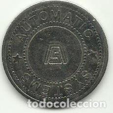 Monedas antiguas de Europa: AUTOMATIC SISTEMS - TOKEN - FOTOS. Lote 261520745
