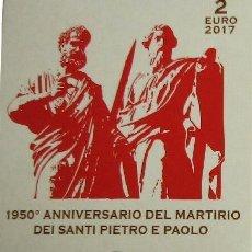 Monedas antiguas de Europa: VATICANO 2 EUROS 2017 - PROOF - MARTIRIO PEDRO Y PABLO. Lote 261556355