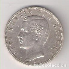 Monedas antiguas de Europa: MONEDA DE 5 MARCOS DE ALEMANIA (BAVIERA) DE 1899-D. PLATA. MBC. (ME701). Lote 261560685