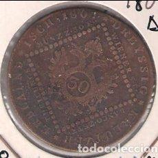 Monedas antiguas de Europa: MONEDA DE 30 KREUZER DE AUSTRIA DE 1807-A. FRANZ II. COBRE. MBC. (ME705). Lote 261565235