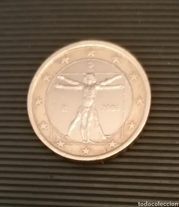 MONEDA 1€ ITALIA 2006 PROPORCIONES DEL HOMBRE MIGUEL ANGEL (Numismática - Extranjeras - Europa)