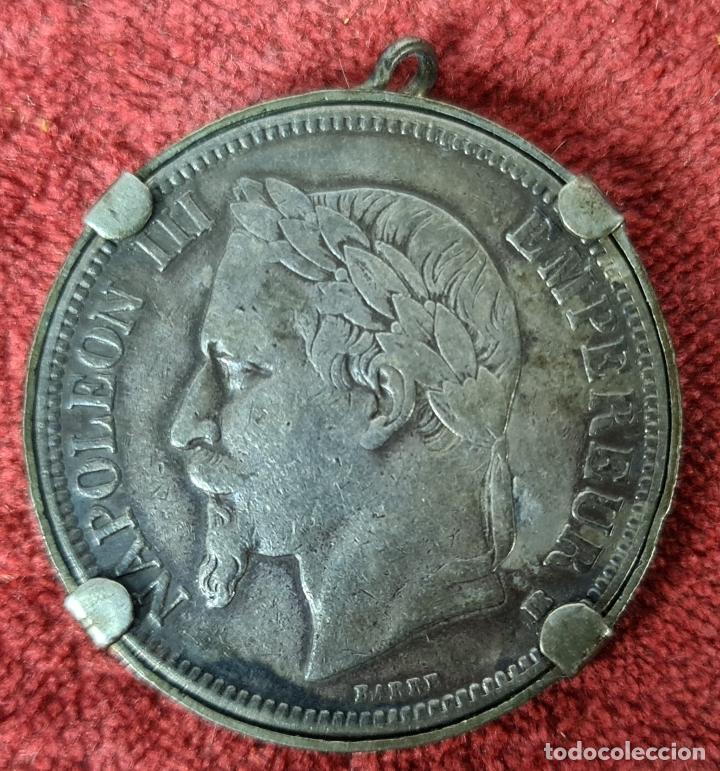 MEDALLA DE PLATA. MNEDA DE NAPOLEÓN III. BARRE. 5 FRANCOS. 1868. (Numismática - Extranjeras - Europa)