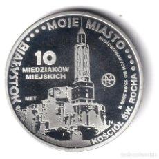 Monedas antiguas de Europa: POLONIA 10 MIEDZIAKOW LATON PLATEADO 2009 BIALYSTOK - BYAŁYSTOK. Lote 261843515