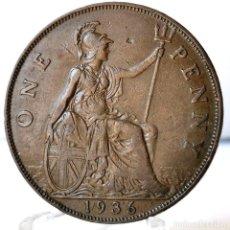 Monedas antiguas de Europa: ⚜️ 1 PENNY 1936. GRAN BRETAÑA. AC636. Lote 261843720