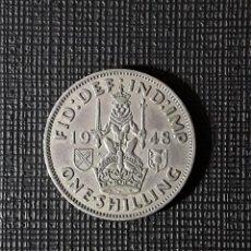 Monedas antiguas de Europa: REINO UNIDO JORGE VI ONE SHILLING 1948 KM864 SCOTTISH CREST. Lote 261847120