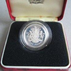 Monedas antiguas de Europa: GRAN BRETAÑA / INGLATERRA. MONEDA DE ONE POUND. 1983 SILVER PROOF. UNITED KINGDOM. Lote 261968250