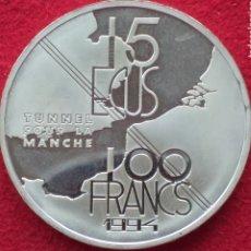 Monedas antiguas de Europa: FRANCIA 100/15 ECUS PLATA 1994. Lote 262000945