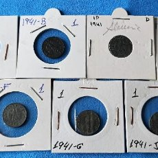 Monedas antiguas de Europa: ALEMANIA 3 REICH JUEGO COMPLETO 1 REICHSPFENNIG- 1941-A B D E F G J ZINC. Lote 262003575