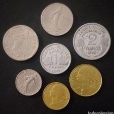 Monedas antiguas de Europa: LOTE DE 7 MONEDAS DISTINTAS FRANCIA DISTINTOS VALORES Y DISTINTAS FECHAS. Lote 262019820