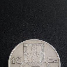 Monedas antiguas de Europa: MONEDA DE PORTUGAL AÑO 1954 DE 10 ESCUDOS. Lote 262128310