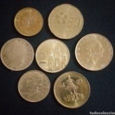 Monedas antiguas de Europa: LOTE DE 7 MONEDAS DORADAS PAÍSES Y VALORES DISTINTOS. Lote 262137680