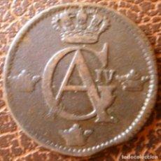 Monedas antiguas de Europa: SUECIA GUSTAVO IV ADOLFO DE SUECIA 1809 1/2 SKILLING. Lote 262435555