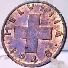 Monedas antiguas de Europa: ⚜️ 2 RAPPEN 1948. SIN CIRCULAR DE CARTUCHO. SUIZA. AC679. Lote 262486615