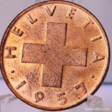 Monedas antiguas de Europa: ⚜️ 2 RAPPEN 1957. SIN CIRCULAR DE CARTUCHO. SUIZA. # AC680. Lote 262486720
