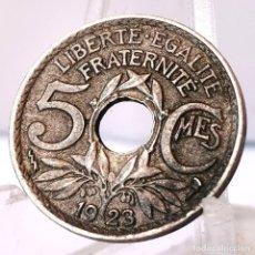 Monedas antiguas de Europa: ⚜️ 5 CENTIMES 1923. POISSY. FRANCIA. BONITO EJEMPLAR. AC684. Lote 262487080