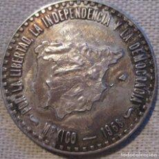 Monedas antiguas de Europa: MÉXICO 1968 ''POR LA LIBERTAD, LA INDEPENDENCIA Y LA DEMOCRACIA EN ESPAÑA'' PLATA./ RARÍSIMA.. Lote 262490795